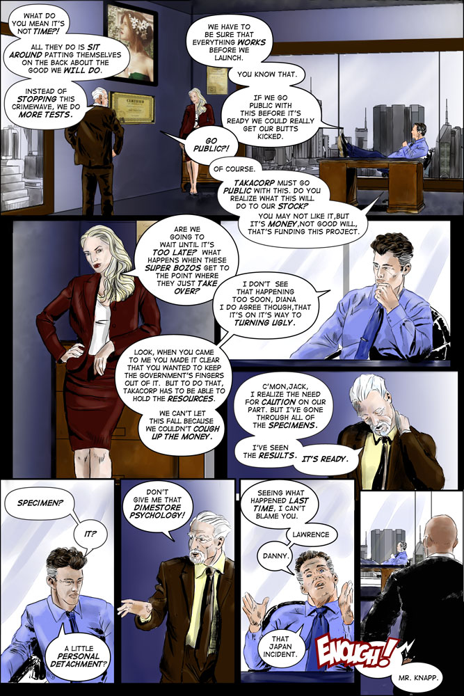 "Heroes inc. ""Specimens"" – Page 17"